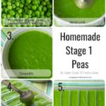 homemade organic baby food peas