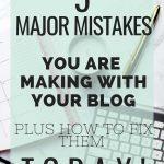 5 major blog mistakes