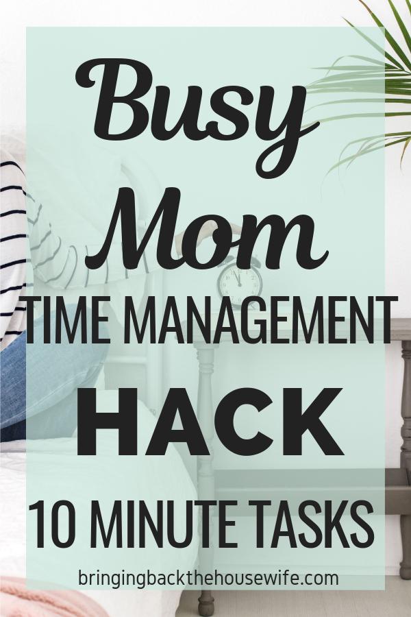 Pinterest - 10 minute tasks