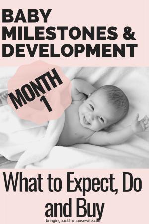 1 Month Baby Milestones