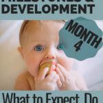 Baby milestones guide month 4