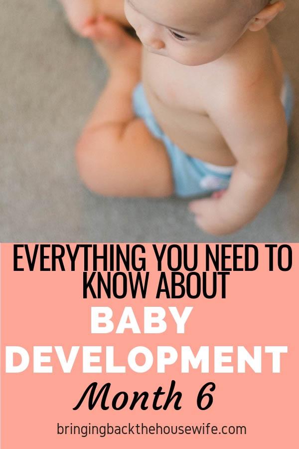 Baby development month 6