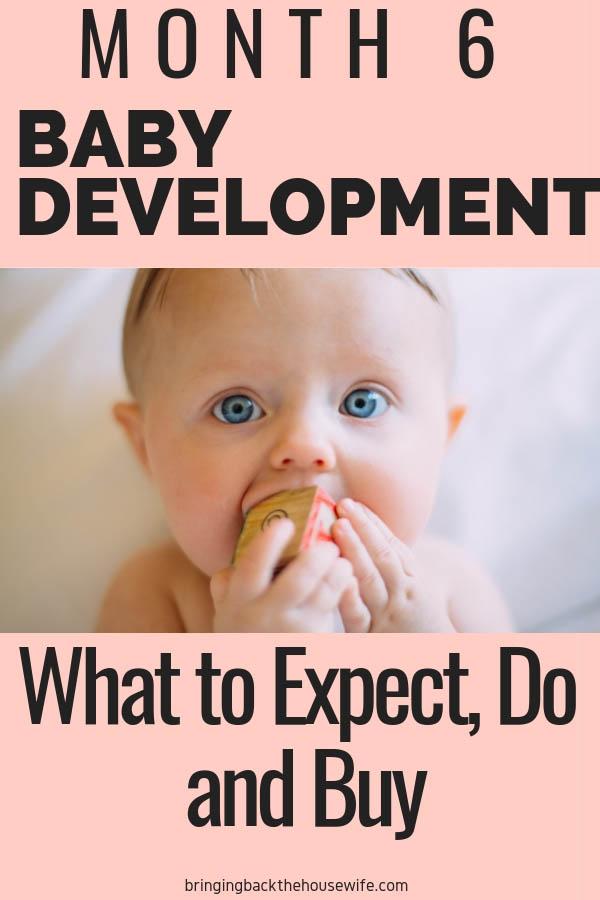 Baby development 6 months
